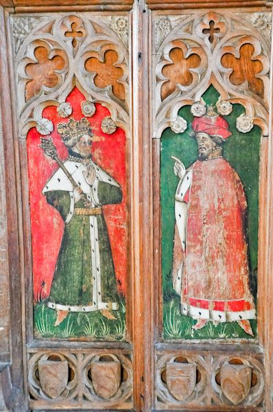 Kersey, St Mary's Church photo, Screen panel 2