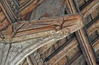 Kersey, St Mary's Church, Carved angel 2