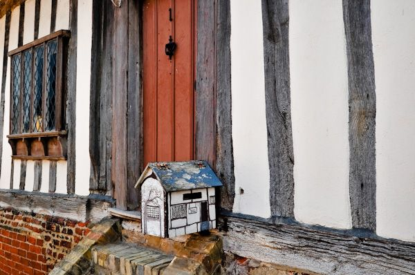 Kersey photo, A timber framed letterbox