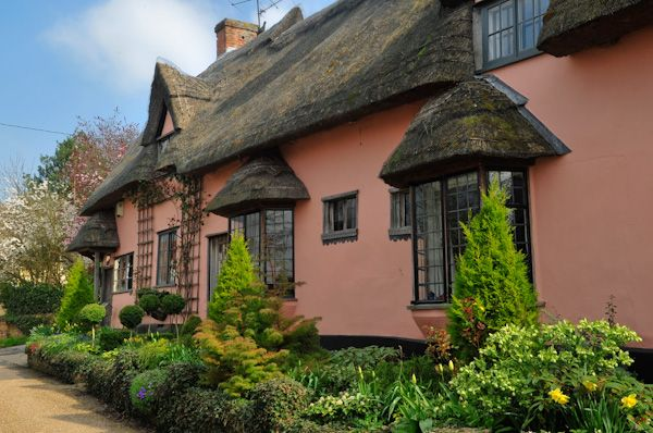 Kersey photo, Another thatched cottage