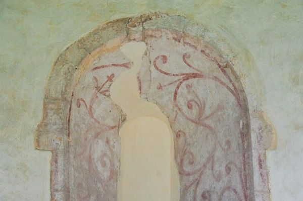 Kettlebaston, St Mary's Church photo, Medieval wall painting