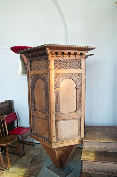 Kettleburgh, St Andrew's Church photo, 18th century pulpit