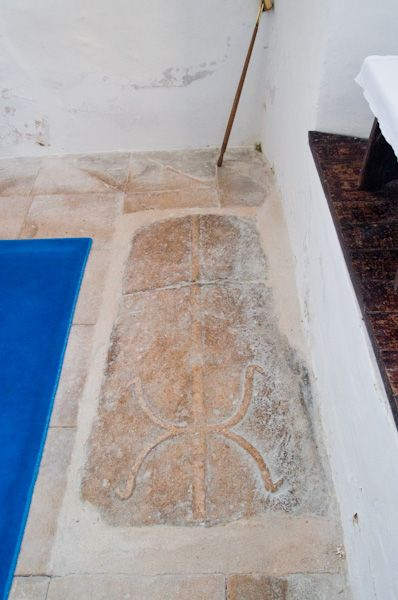 Kettleburgh, St Andrew's Church photo, 13th century coffin slab