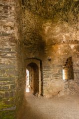 Guard chamber inside the gatehouse