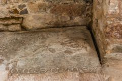 Medieval grave slab in the Lady Chapel