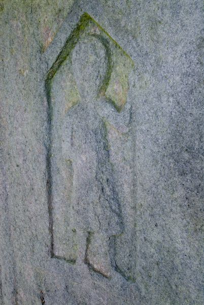 Kilberry Sculptured Stones photo, Knight carving