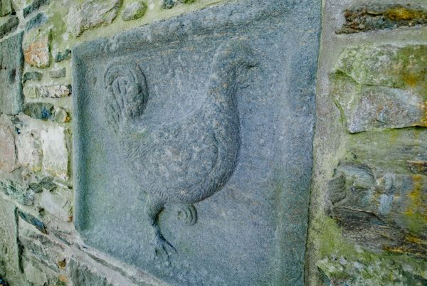 Kilberry Sculptured Stones photo, Rooster carving