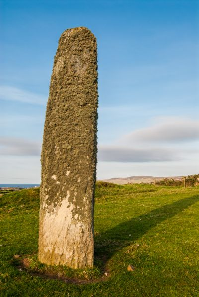 Kilbride Standing Stone photo, The east face of the stone