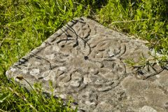 Kilchiaran Chapel and Cup Stone, Floral pattern on a medieval grave slab