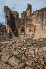 Foundation walls in the inner courtyard