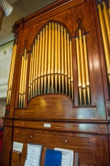 The organ in the Music Room