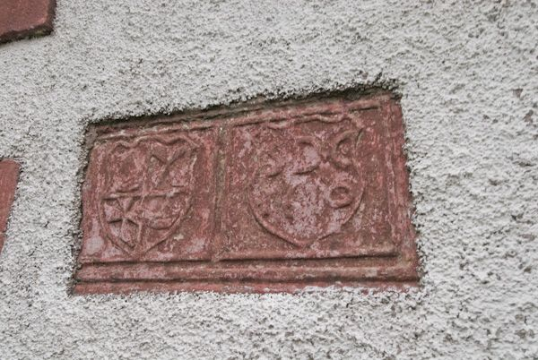 Kilmodan Sculptured Stones photo, 17th century carved stone in church wall
