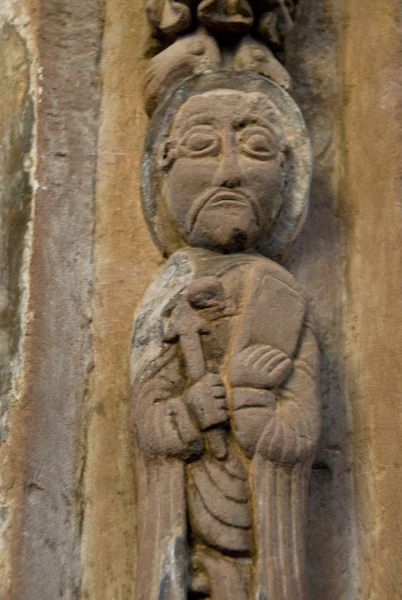 Kilpeck Church photo, Chancel arch carving 2