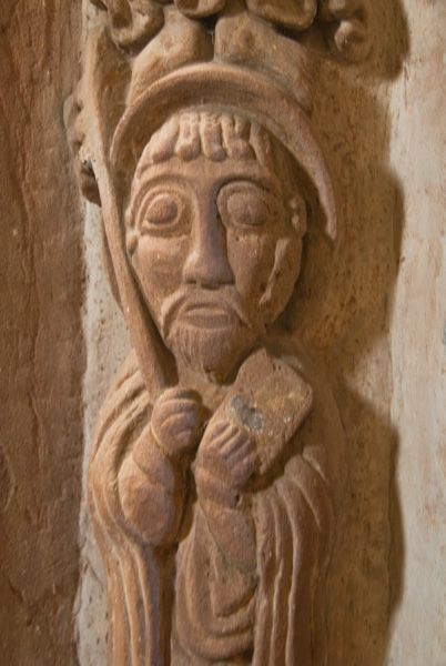 Kilpeck Church photo, Chancel arch carving 5