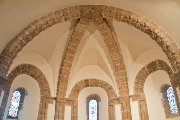 Kilpeck Church photo, Sanctuary vaulting