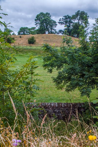 King Arthur's Round Table photo, Looking into the henge from the lane
