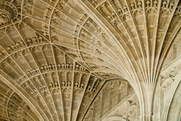 King's College Chapel photo, Detail of the fan vaulting