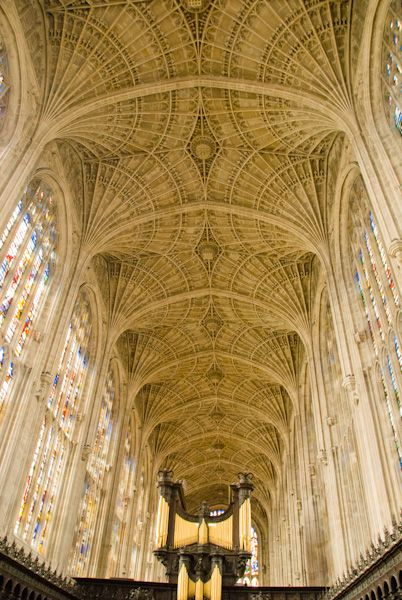 King's College Chapel photo, The chapel's amazing vaulted roof