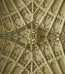 Tudor rose ceiling boss