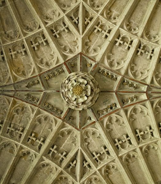 King's College Chapel photo, Tudor rose ceiling boss
