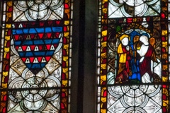 Medieval stained glass detail