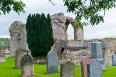 Kinloss Abbey, Cemetery view