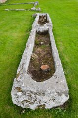 Kinloss Abbey, Medieval stone coffins