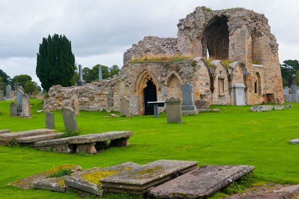 Kinloss Abbey photo, South transept and sacristy