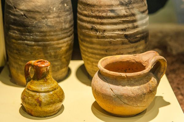 Kinneil Museum photo, Roman pots in the museum