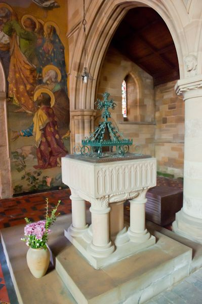 Kirby Grindalythe, St Andrew's Church photo, Font