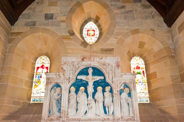Kirby Grindalythe, St Andrew's Church photo, Redfern reredos