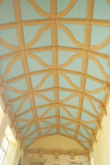 The Great Hall barrel vaulted ceiling