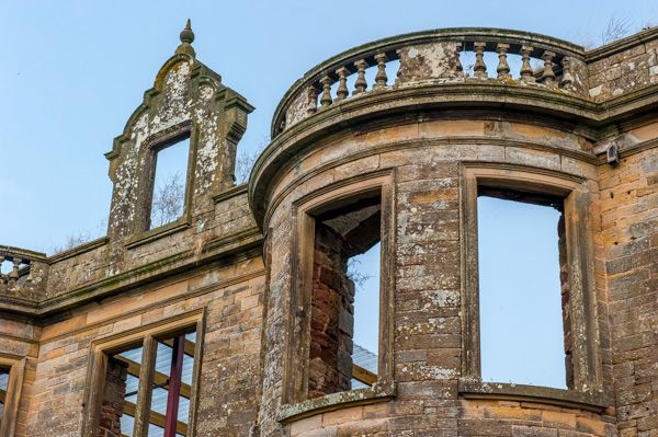 Kirklinton Hall photo, The ornate roofline