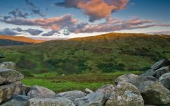 Sunset across Stock Ghyll