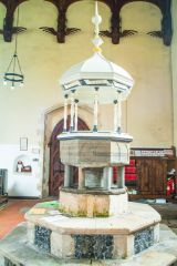The ornate church font