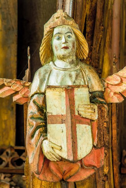 Knapton photo, Painted angel figure in the church