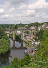 Knaresborough, Knaresborough's Victorian viaduct from the castle (c) Hogweard