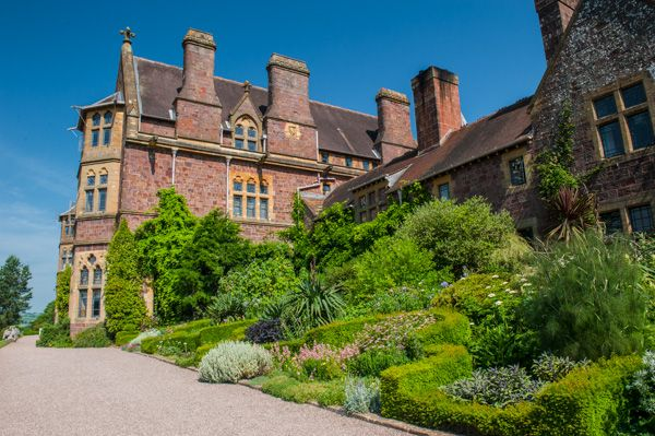 Knightshayes Court photo, The rear terrace garden