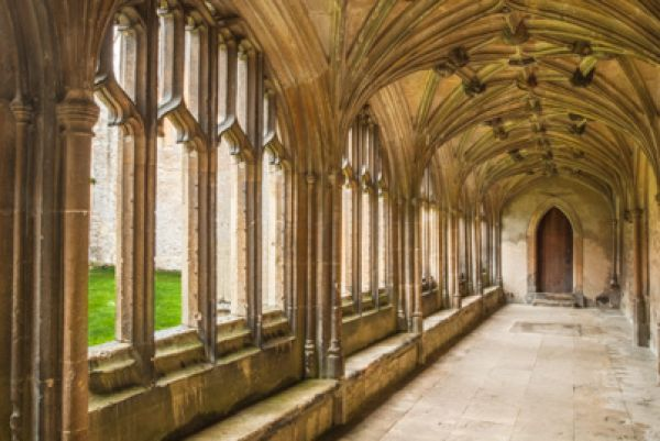 Lacock photo, Lacock Abbey cloisters