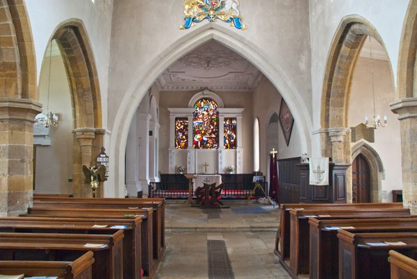 Lamport, All Saints Church photo, Looking up the nave