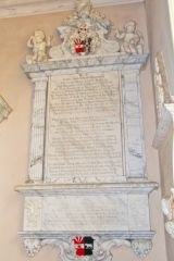 Lamport, All Saints Church, Elizabeth Isham memorial (d. 1713)