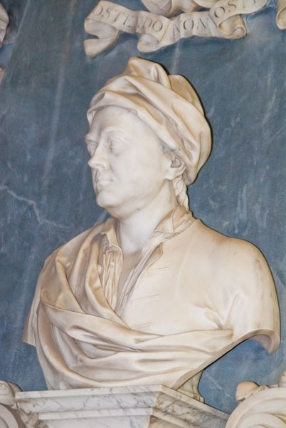 Lamport Hall photo, Justinian Isham memorial bust