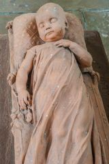 Lanercost Priory, Victorian memorial to an infant