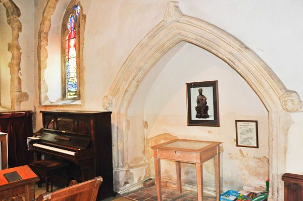 Langham, St Mary's Church photo, 14th century tomb recess