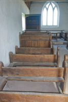 Langley Chapel, 16th century pews