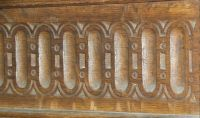Langley Chapel, Carving detail