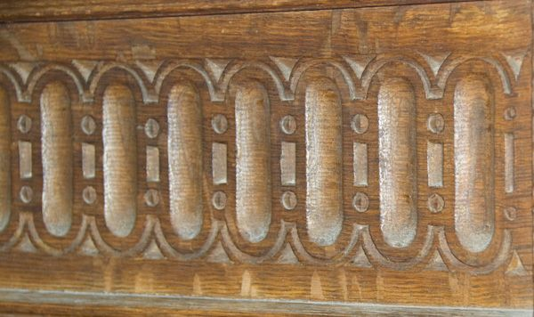 Langley Chapel photo, Carving detail