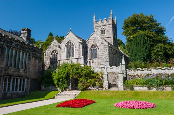 Lanhydrock photo, Formal gardens and the church