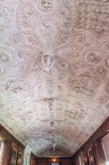 The long gallery plasterwork ceiling