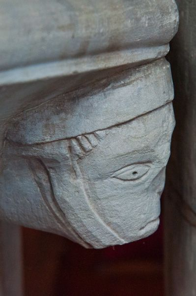 Lapworth, St Mary's Church photo, Font carving 3